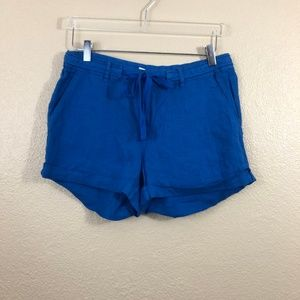 Joie Jewell Blue Linen Tie Waist Shorts 6